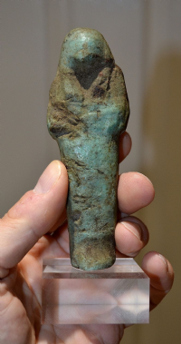 A large Ancient Egyptian, Third Intermediate Period mounted Ushabti figure, old collection. SOLD
